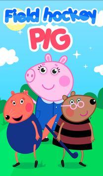 Field hockey pig poster
