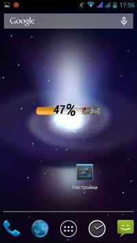 Battery Cigarette Widget apk screenshot