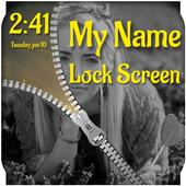 My Name Zipper Lock Screen icon
