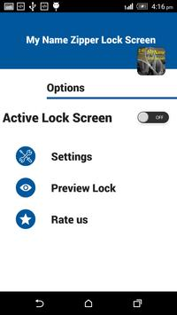 My Name Zipper Lock Screen screenshot 3
