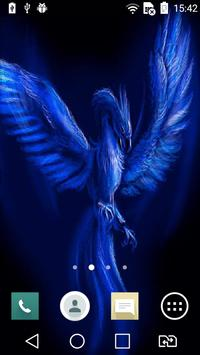 Blue neon eagle live wallpaper apk screenshot