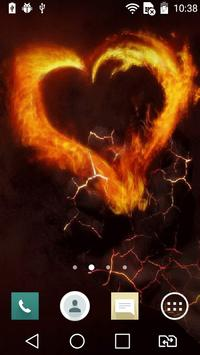 Fiery heart live wallpaper poster
