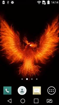 Fiery eagle live wallpaper poster