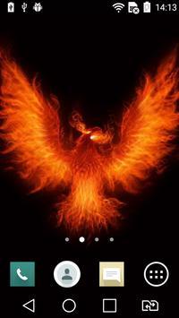 Fiery eagle live wallpaper apk screenshot