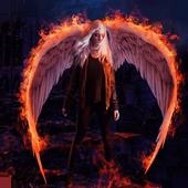 Fallen angel live wallpaper icon