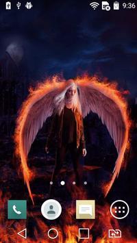 Fallen angel live wallpaper poster