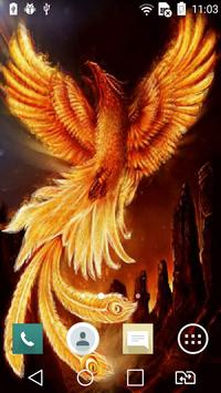 Fire-bird live wallpaper poster
