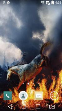 Horse in bonfire live wp screenshot 2