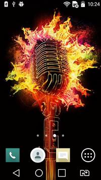 Scorching microphone live wp poster