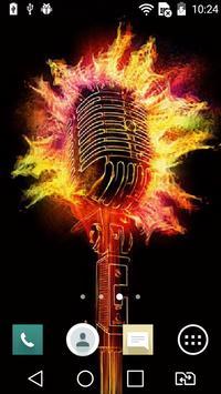 Scorching microphone live wp apk screenshot