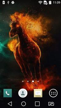 Shadowy horse live wallpaper poster