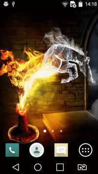 Smoky horse live wallpaper poster