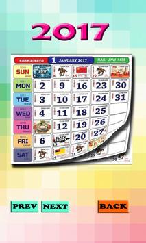 Calendar 2017 Malaysia poster