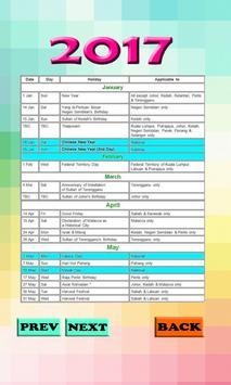 Calendar 2017 Malaysia apk screenshot