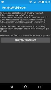 RWS - Remote Web Server poster