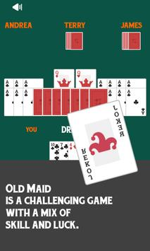 Old Maid Free Card Game poster