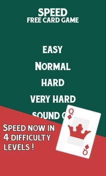 Speed Free Card Game poster
