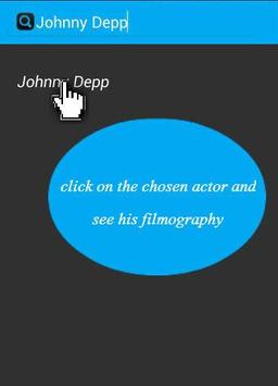 Filmography actors apk screenshot