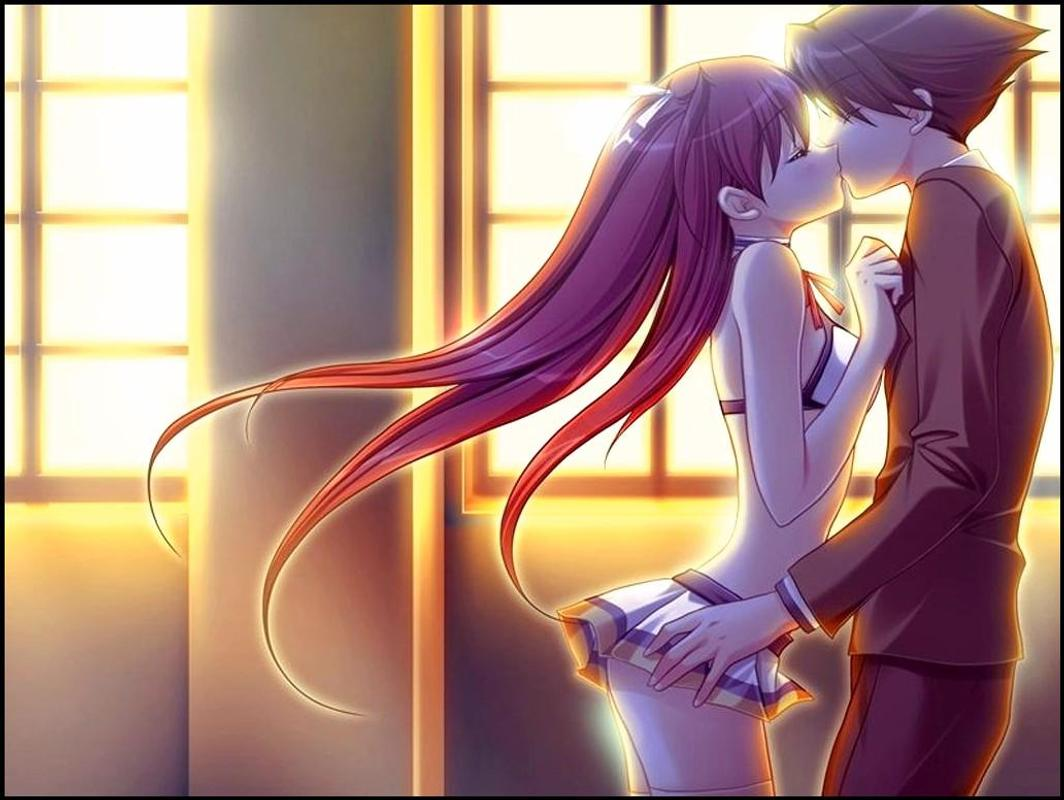 100+ anime couple kiss wallpaper for android - apk download