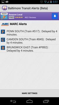 Baltimore Transit Delays screenshot 1