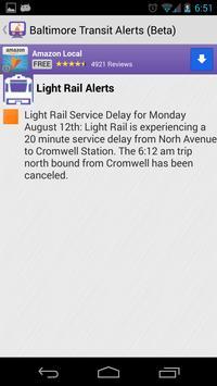 Baltimore Transit Delays screenshot 2