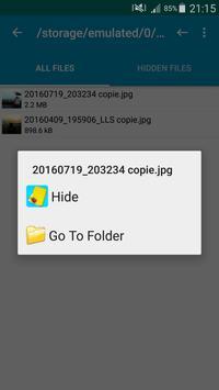 Hide Files & Hide Folders apk screenshot