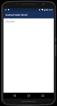 Android Hello World poster