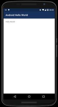 Android Hello World apk screenshot