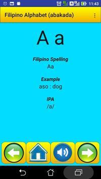 Filipino Alphabet (Abakada)for university students poster