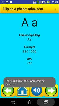 Filipino Alphabet (Abakada)for university students screenshot 12