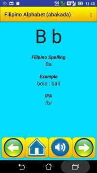 Filipino Alphabet (Abakada)for university students screenshot 1