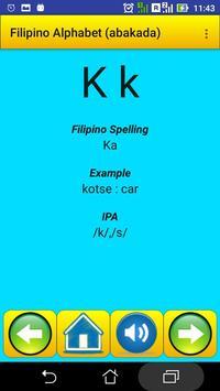 Filipino Alphabet (Abakada)for university students screenshot 2