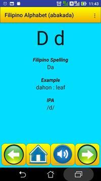 Filipino Alphabet (Abakada)for university students screenshot 3