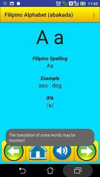 Filipino Alphabet (Abakada)for university students screenshot 5