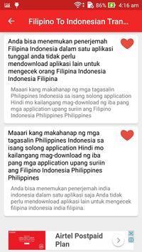 Filipino Indonesian Translator screenshot 5