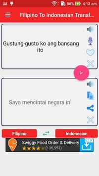 Filipino Indonesian Translator screenshot 8