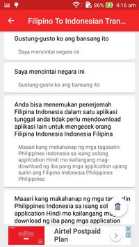 Filipino Indonesian Translator screenshot 12