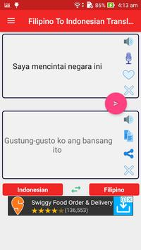 Filipino Indonesian Translator screenshot 1