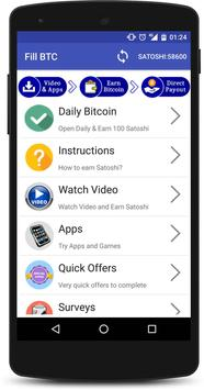 Fill BTC - Earn Free Bitcoin apk screenshot