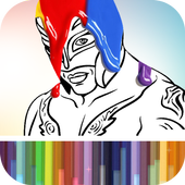 Coloring Book for WWE icon