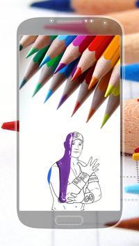Coloring Book for WWE apk screenshot