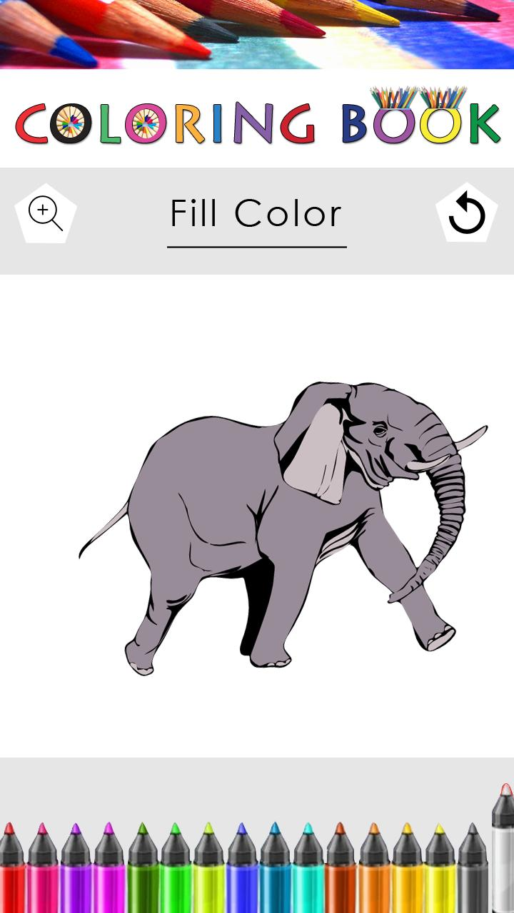 Coloring Pages Jungle Animals poster