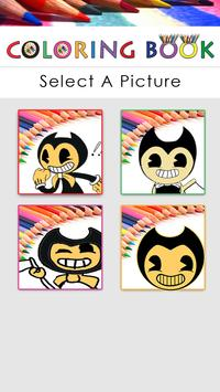 Coloring pages for Bendy poster
