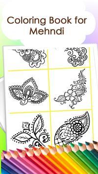 Coloring book for mehndi apk screenshot
