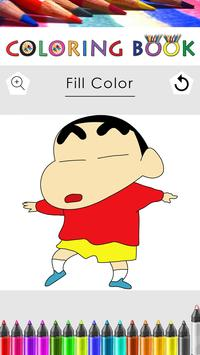 Coloring Pages for Shin Chan apk screenshot