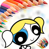 Coloring Book Power puff Girls icon
