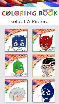 Coloring Book for PJ Mask poster