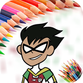 Coloring Book for Titans Go icon