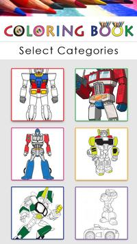 Coloring book for transformer poster