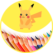 Easy to fill color a pokemon icon
